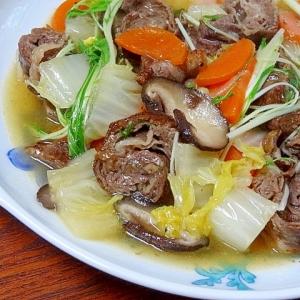中華風☆ 「牛薄切りロールと白菜の旨煮」