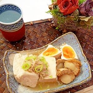 料亭の美味しさ♥「豆腐とホタテの卵落とし」