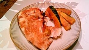 鯛のお頭、梅味噌焼き