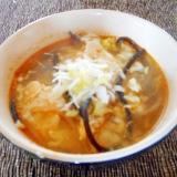 もやしとヒジキの酸辣湯スープ