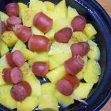 タジン鍋/馬鈴薯ウインナのバター蒸し