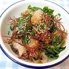 寒天と海草の中華風サラダ