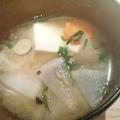 大根&人参&水菜の三色味噌汁