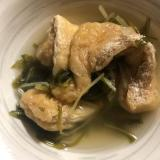 白だしで簡単♡薄揚げと水菜の煮物
