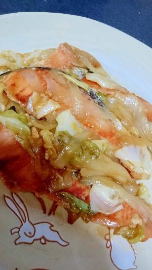 野菜が美味しくなる!冷凍鮭のちゃんちゃん焼き
