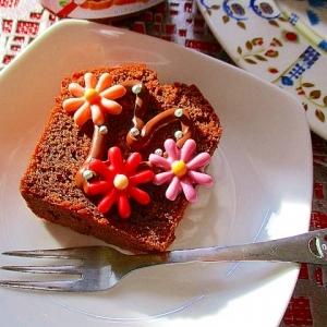 ヌテラ&チョコフラワーで楽しむ!ココアケーキ♪