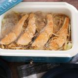 ホットプレートで鮭のちゃんちゃん焼き