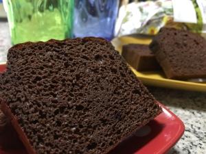 Wプロテインチョコレートケーキ