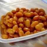 大豆のドライパック缶で簡単煮豆♪