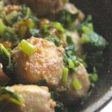 アレンジレシピ☆里芋と大根葉の炒め物