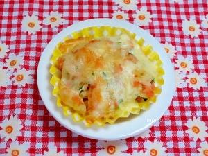 お弁当用♪ジャガイモと鮭フレークのチーズ焼き