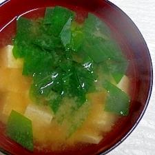 ツユクサ(露草)の味噌汁・野草レシピ