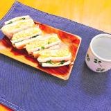 超簡単♪ハム卵マヨチーズの高野豆腐サンド