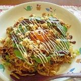 卵とろ~り! ❤ サラダほうれん草入りソバ飯 ❤