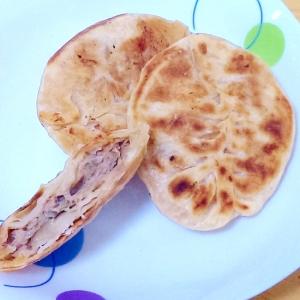 豚肉と玉ねぎと白菜の中華風おやき(肉餅)