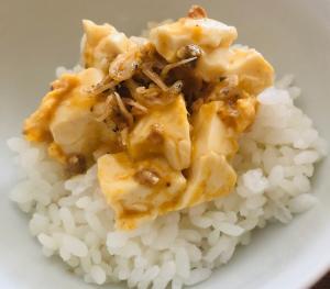 ちりめん山椒*豆腐たまごミニ丼