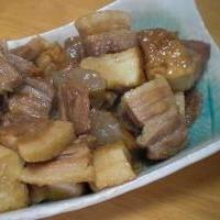 こってり美味しい「豚バラブロックの生姜煮」  ♪♪