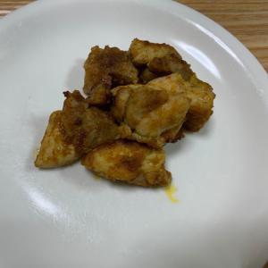 鶏もも肉のカレーケチャップ焼き