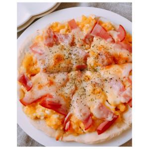 強力粉不要&発酵なし!フライパンで手作りピザ生地♪