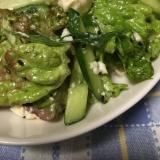ポン酢で豆腐入りチョレギサラダ
