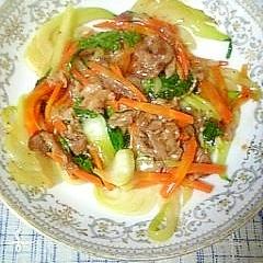 牛肉チンゲン菜オイスター炒め