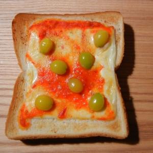 銀杏のピザトースト