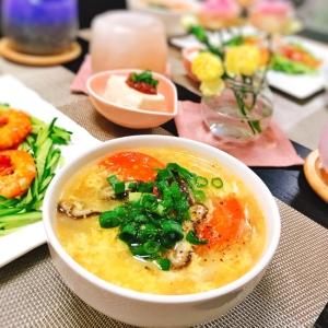フワフワ♡玉子とトマトの中華スープ