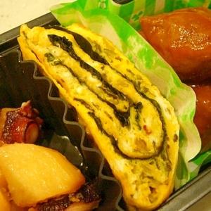 お弁当に☆辛子高菜と韓国海苔の卵焼き