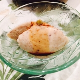 真夏の葛白豆腐