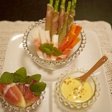 スティック野菜と無花果の生ハム巻き