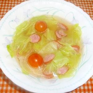 ウインナーとトマトのスープ