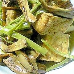 めんつゆで簡単!十六豆ささげと厚揚げの煮物