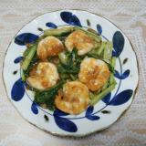 海老と小松菜の豆板醤炒め❤