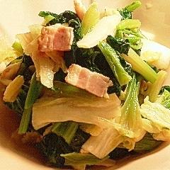 白菜とベーコン☆ほうれん草の和え物♪