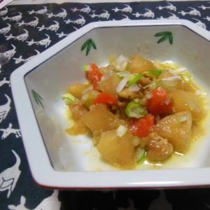 鶏皮と納豆たれのうま煮