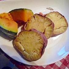離乳食ステップアップ❤焼きかぼちゃとさつま芋