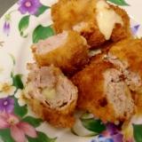 豚小間肉でチーズ入りミルフィーユとんかつ♪