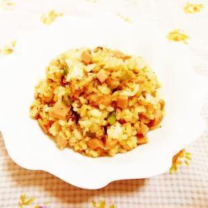 柚子&とんかつソース風味♪ピーマンと玉葱の炒飯