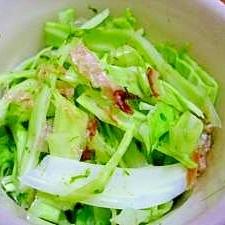 簡単! キャベツと糸青のり・カツオ節の中華風サラダ