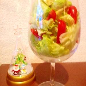 【クリスマス パーティー】ブランデーグラスでサラダ