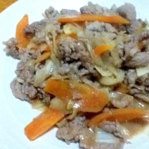 牛肉のにんにく味噌炒め
