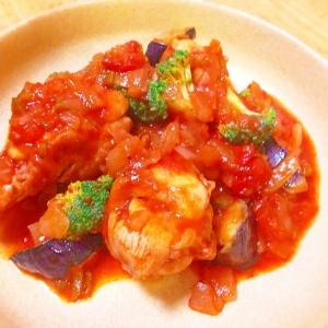 夏野菜のトマト煮込み