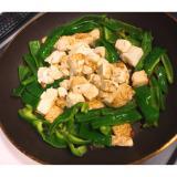 簡単でヘルシーそして満足!豆腐とピーマンチャンプル