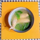 手羽先と小松菜のスープ♪
