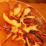 大きなりんごのパンケーキ