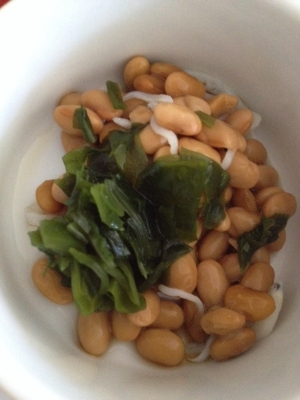 離乳食☆納豆としらすとわかめの和え物