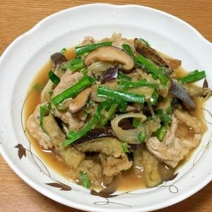豚肉と茄子とニラのおろし煮