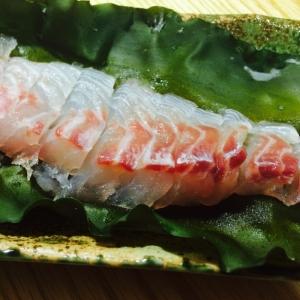 【ガサツ料理】巻いちゃいました、鯛の昆布締め