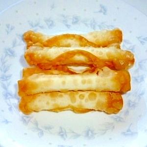 簡単チーズの餃子の皮包み揚げ♪
