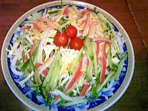 食から涼☆野菜たっぷり海鮮ヘルシーサラダうどん